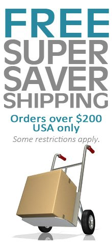 Free Super-Saver Shipping in the USA!