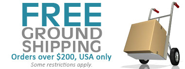 Free Ground Shipping within the USA!
