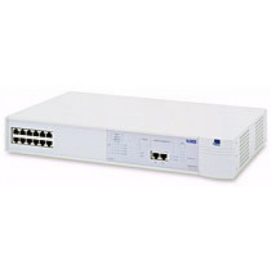 SuperStack II Switch 1100, 12-Port 10Base-T RJ45, 2-Port 10/100Base-TX RJ45
