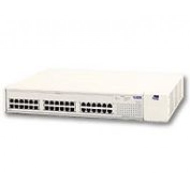 3Com 3C39036 Switch 3900, 36-Port 10/100Base-TX RJ45, 1-Port Gigabit Ethernet 1000Base-SX SC MMF, AC Power Supply