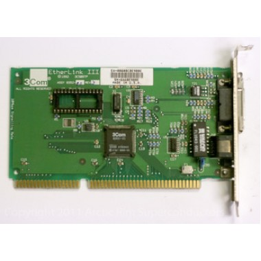 3Com 3C509-TP EtherLink III Ethernet LAN ISA Combo Network Interface Card 8352-10