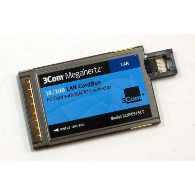 Megahertz 10/100 LAN CardBus (CBus) PC Card with XJACK Connector