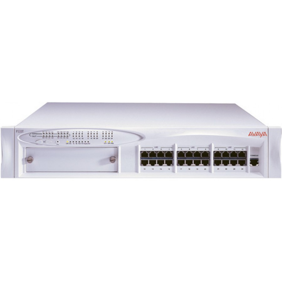 Avaya Lucent 108563123 Cajun P333T 10/100 24-Port Stackable Switch, AC  Power Supply