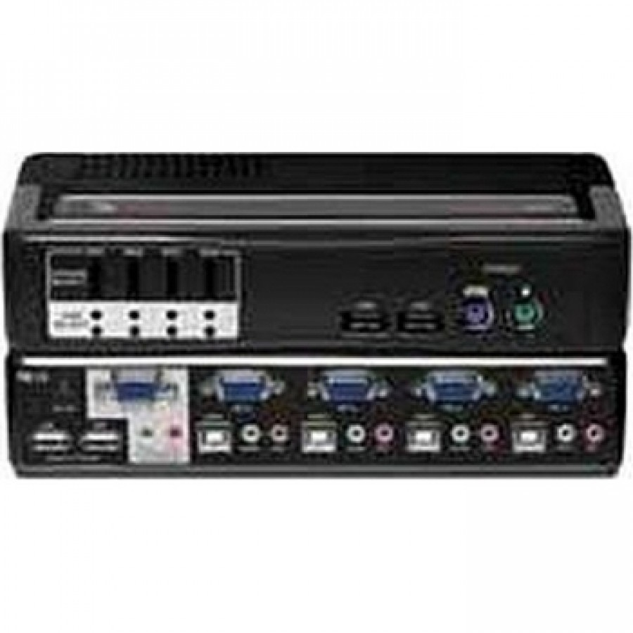 Avocent 4SVPUA20-001 4-Port PS2 USB Switchview MM2 KVM Switch USB 2 0 Hub  with Audio