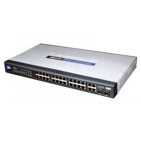 24-Port 10/100 + 2-Port Gigabit Ethernet Switch with WebView
