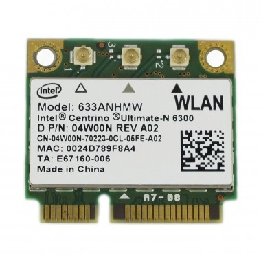 WiFi Card Intel 6300 Mini PCI-E 450 Mbps; 802.11 a/g/n Internal Card
