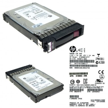 600GB SAS 15K DP 6G 3.5-Inch LFF HDD Enterprise Hard Disk Drive
