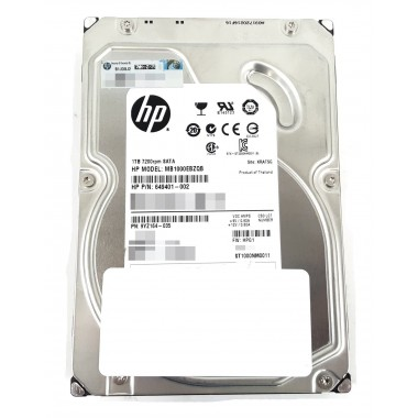 1TB Hot-Plug Serial ATA (SATA) Hard Disk Drive 3G 7.2K 3.5-inch LFF HDD