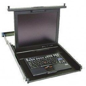 7316-TF4 Rackmount Flat Panel LCD with Rails and Cable Management Arm