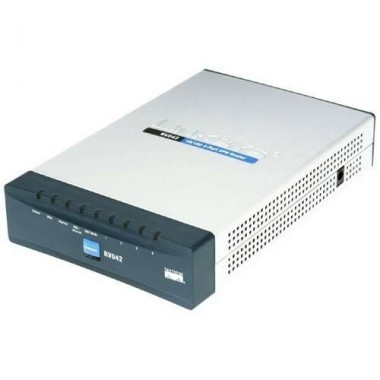 4-Port VPN Firewall Dual WAN Router with Power Supply
