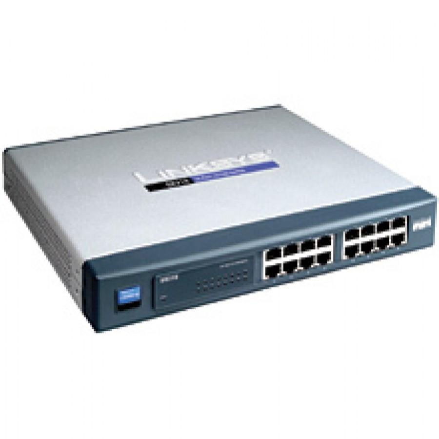 Linksys SR216 Cisco 16-Port 10/100 Network Switch