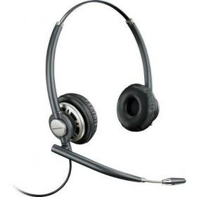 Corded Binaural Headset, Stereo, Wired, Over-the-head Binaural, Noise Cancelling Microphone (Black)
