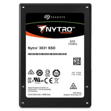 1.9TB Nytro 3331 SSD, 12Gbps SAS Enterprise eTLC, 2.5-Inch
