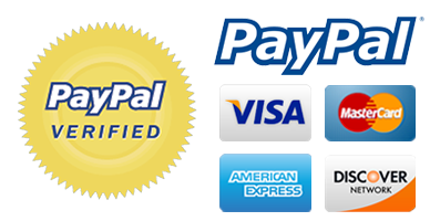 PayPal, Visa, Mastercard, American Express and Discover Payment Methods